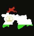 tajikistan map vector image vector image