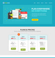 task or to do list checklist web site template vector image vector image