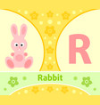 the english alphabet with rabbit vector image