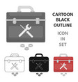 toolbox icon in cartoon style isolated on white vector image vector image