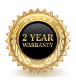 Two Year Warranty vector image vector image