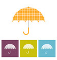 umbrella with decorative element cell wall vector image vector image
