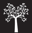 white naked tree outline plant vector image vector image