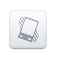 white Vibration icon Eps10 Easy to edit vector image vector image