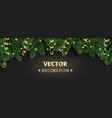 winter holiday background border with christmas vector image vector image