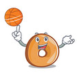 with basketball bagels character cartoon style vector image vector image
