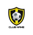 yellow football emblem vector image vector image