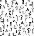 Doodle Arrows Seamless Pattern Background Concept vector image