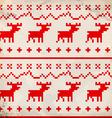 Traditional deer ornament vector image