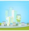 02 Eco City landscape vector image vector image