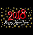 2018 new year black gold snowflakes background vector image