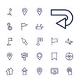 22 pointer icons vector image vector image