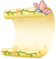 A butterfly and a paper sheet vector image vector image