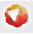 Abstract 3D geometric vector image vector image