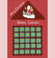 advent calendar in shape a house with vector image vector image