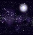 background moon starry sky milky way vector image