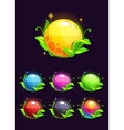 Beautiful colorful shiny nature elements vector image vector image