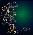 beautiful golden floral decoration background vector image vector image