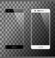 black and white smartphones isolated vector image vector image