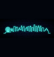 blue neon skyline melbourne city bright vector image vector image