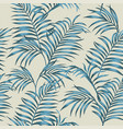 blue tropical leaves seamless beige background vector image vector image