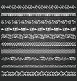 border lines ornamental vinage set vector image vector image