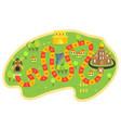 cartoon board game concept vector image vector image