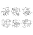 chaos lines set vector image vector image