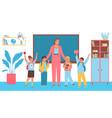 children at school flat vector image
