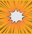 comic book yellow radial line superhero vector image vector image