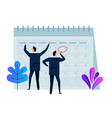 company business team working together planning vector image vector image