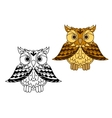 Cute little cartoon owl with outspread wings vector image vector image