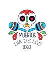 dia de los muertos logo mexican day dead vector image vector image