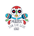 dia de los muertos logo mexican day of the dead vector image vector image
