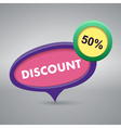 discount label on gray background vector image vector image