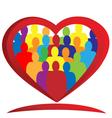 Diversity people heart vector image vector image