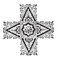 doodad have four pointed corners vintage engraving vector image vector image