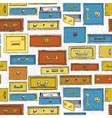 doodle cartoon color drawers pattern vector image
