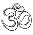 doodle yoga symbol vector image vector image