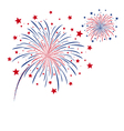 firework design on white background vector image vector image