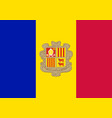 flag of andorra official colors and proportions vector image vector image