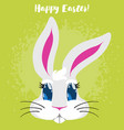funny cartoon easter rabbit vector image vector image