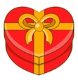 Gift box icon cartoon style vector image vector image