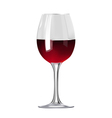 Glass of red wine isolated vector image vector image