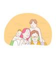happy family parenthood children concept vector image