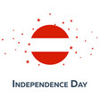 independence day of austria patriotic banner vector image vector image