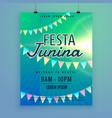 latin american festa junina festival poster flyer vector image vector image