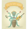 Latino Octopus Play Music vector image vector image