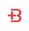 letter b plus logo icon vector image