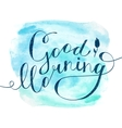 lettering on watercolor vector image vector image